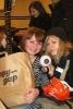 Кристина и Наташа в обнимку с дарами