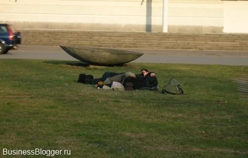 Отдыхающие питерцы