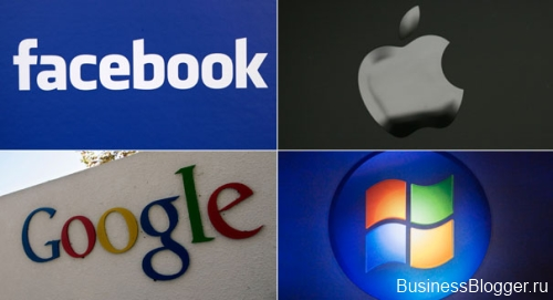 Apple, Google, Microsoft, Facebook