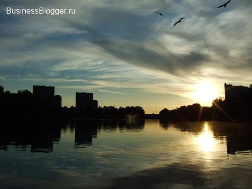 Московский закат в Люблинском парке