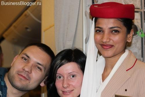 Дубаи. ОАЭ. Униформа стюардесс компании Emirates