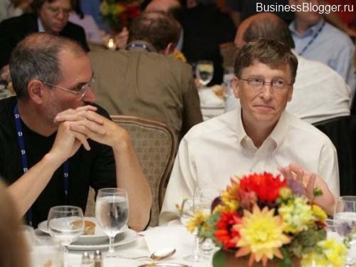 Стив Джобс и Билл Гейтс