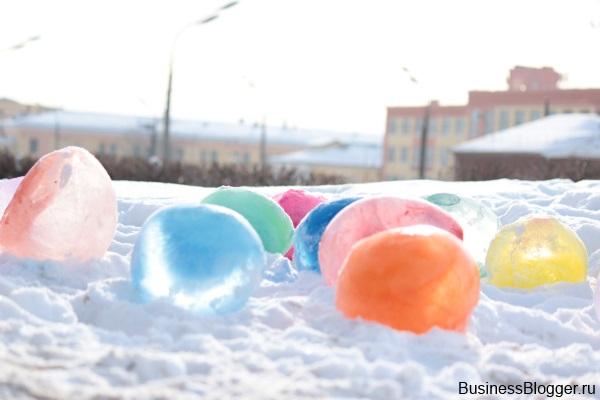 Как сделать мороженный шарик